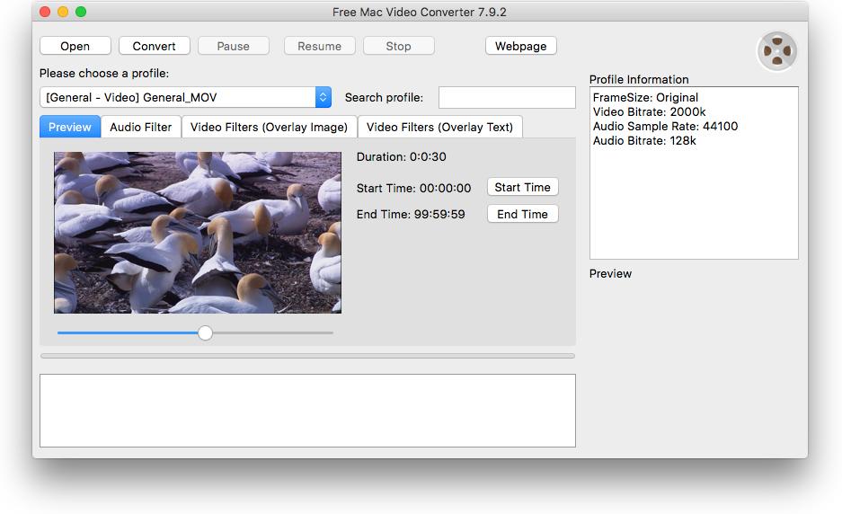 Free Mac Video Converter full screenshot