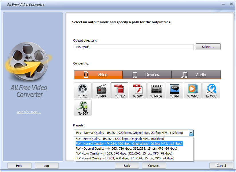 Click to view Free Video Converter 7.5.9 screenshot